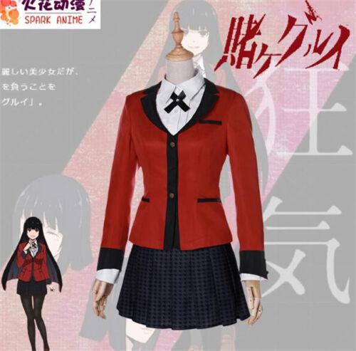 2017 Kakegurui jabami yumeko School Uniforms Dress Cosplay Costume Free Shipping