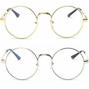 mayor selección de 2019 recoger diseño de variedad Detalles de Redondo Lente Transparente Gafas a la Moda Mujer Hombre
