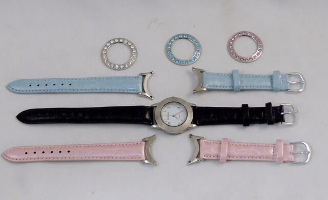 Bellora Watch Set - 12 Watches In 1 w/Case, Interchangeable Bands & Bezels  NEW