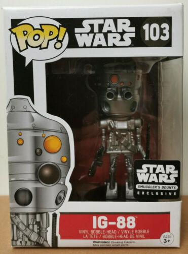 Funko POP Star Wars #103 IG-88 Droid Vinyl Bobble-Head Smugglers Bounty Exclusiv