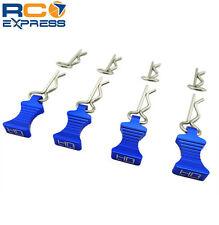 Hot Racing 1/10 Blue Aluminum EZ Pulls (4) Body Clips (8) AC03EZ06