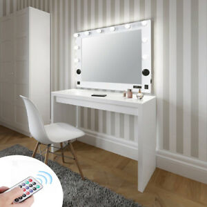 Details about Large Hollywood Bluetooth Vanity Makeup Mirror LED Light  Tabletop/ Wall Mounted