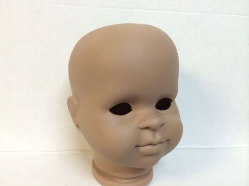 Unpainted dark flesh color bisque doll-making kits lot of 2
