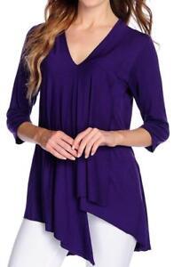 NEW Kate /& Mallory® Knit Elbow Sleeved Scoop Neck Drop Shoulder Uneven Hem Top