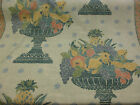 """Green Fruit Bowl """"Peregrine"""" 100% Cotton Upholstery/Curtain Fabric"""