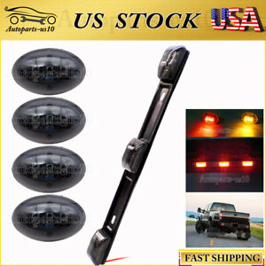 For-99-10-Ford-F350-Smoked-Red-amp-Amber-LED-Dually-Bed-Fender-Lights-ID-Tail-Light
