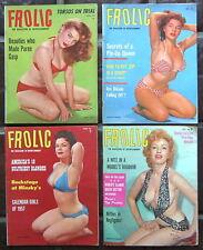 "4 ""FROLIC"" Magazines; August, 1956; December, 1956; June; 1957, & October, 1957"