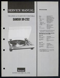 Sansui-SR-232-Original-2-Speed-Auto-Return-Turntable-Service-Manual-O153