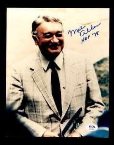 Mel Allen HOF 78 PSA DNA Coa Hand Signed 8x10 Photo Autograph
