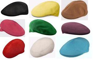 XL KANGOL Hat 504 Tropic Ventair Summer Flat Cap 0290BC Olive Green Sizes S
