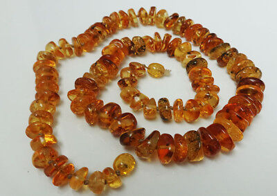 """46.5/"""" Raw  Baltic Amber Necklace 118cm"""