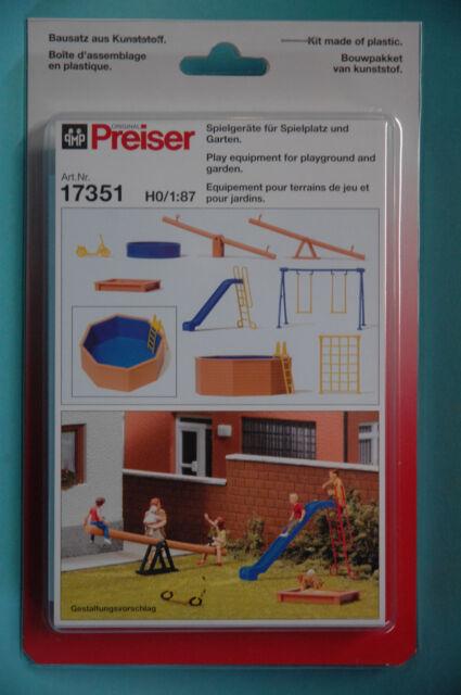 Preiser 17351 Ausgestaltungsset Spielgeräte für Spielplatz und Garten  HO NEU