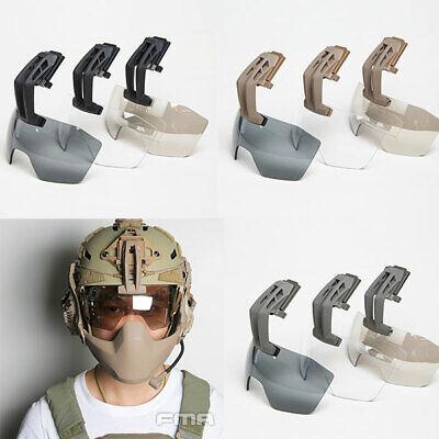 FMA Antifog 3mm Lens Visor Shroud Mount Fixed Arm Wind Goggles for Caiman Helmet