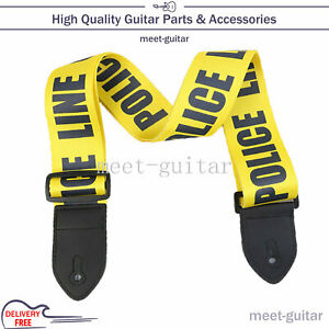 Adjustable Guitar Strap for Folk Electric Guitar Bass  Belt With PU Leather Ends