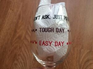 Details About How Was Your Day Funny Wine Glass Goblet Quotes Friends Gift Vino Lovers Mom