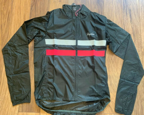 Rapha Brevet Flyweight Wind Jacket Dark Green Medium Brand New With Tag