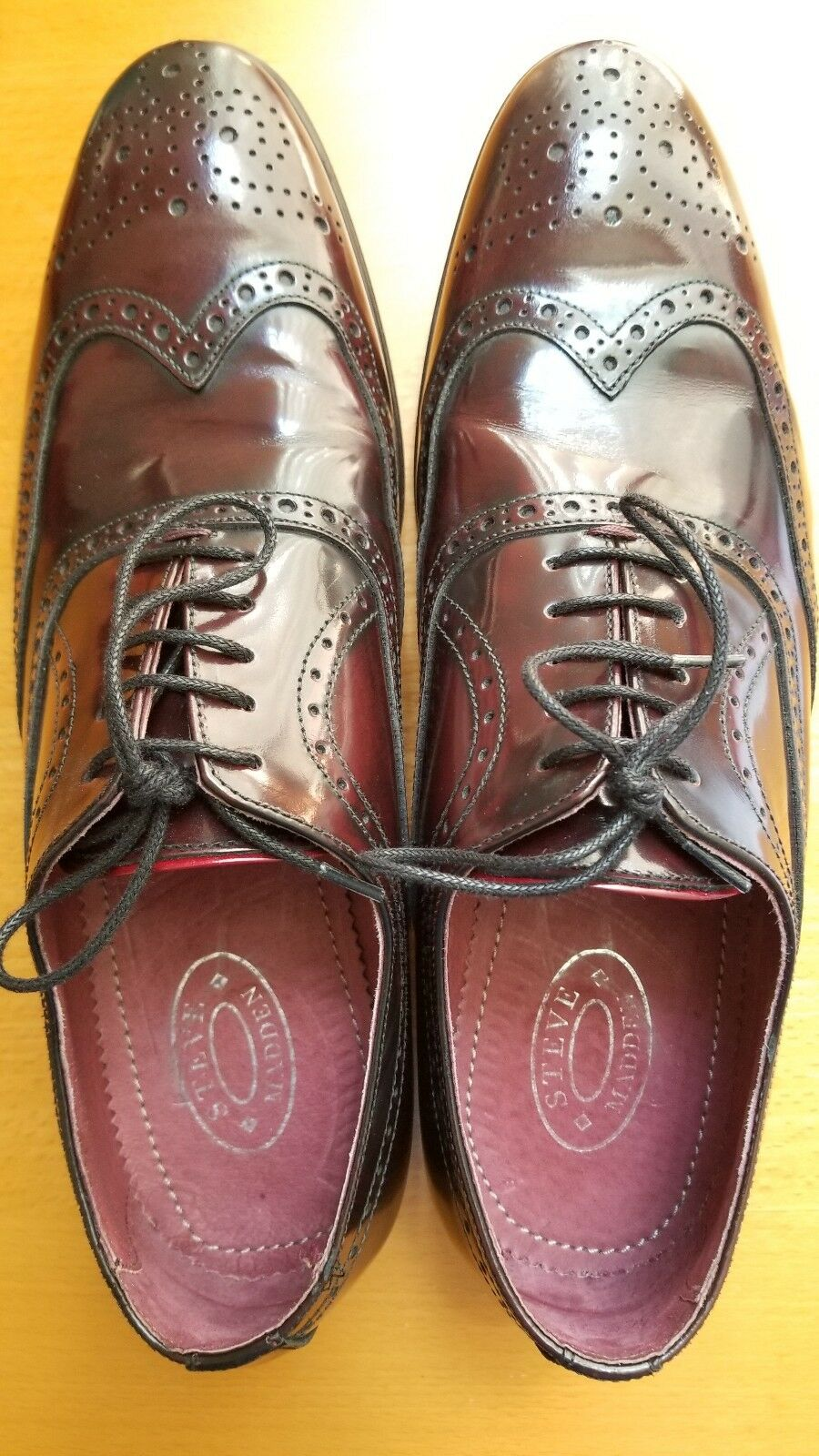Steve Madden RHOMBUS Mens Oxford Loafers shoes Burgundy Size 8