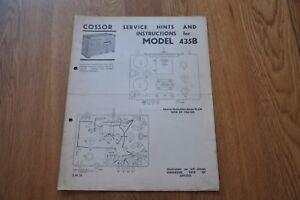 Cossor-Model-435B-Receiver-Genuine-Vintage-Manual-S-M-19