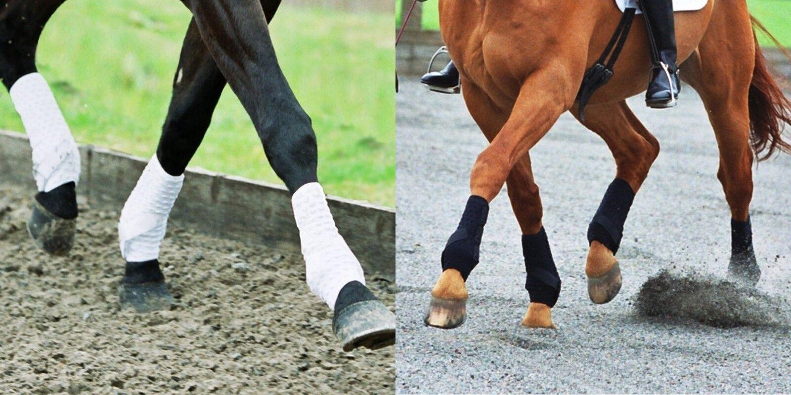 EQUILIBRIUM STRETCH AND FLEX TRAINING WRAPS PONY COB HORSE EXERCISE BOOTS