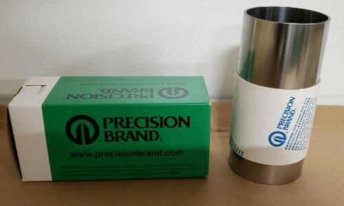 """Lot of 2 Precision Brand Steel 16245 Gauge 0.003/"""" Shim Stock 6/"""" x 100/"""" NEW 16A3"""