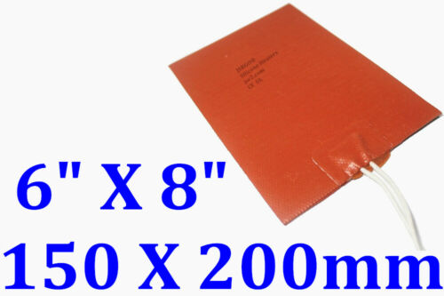 "6/"" X 8/"" 150 X 200mm 24V 190W Engine Oil Pan Universal CE UL Silicone Heater Pad"