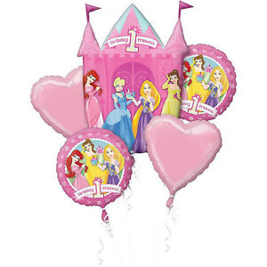 Image Is Loading Disney Princess Balloon Bouquet 1st Birthday Party Decoration
