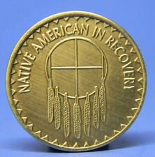 BRONZE CHIP - MEDALLION - NATIVE AMERICAN IN RECOVERY - SOBRIETY