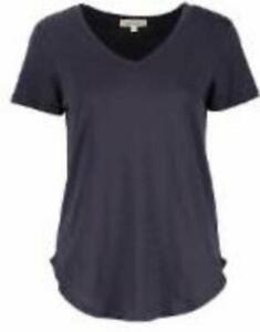 Urban Diction Women's V-Neck Short Sleeve Top (Navy, 3X)