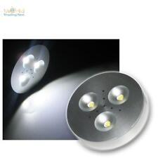 LED disco luce Alluminio Spot 3x1W bianco-puro 12V DC