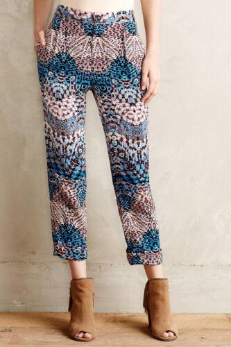 Elevenses Lanikai Tailored Pants Various Sizes Blue Motif NW ANTHROPOLOGIE Tag