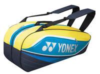 YONEX Tournament Basic Series 7526EX 6 Racquet Bag Tennis & Badminton - Reg $70