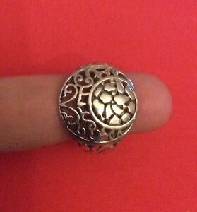 925-Genuine-Sterling-SILVER-Ring-Jewelry-SIZE-8