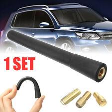 1set Short Stubby Car Auto Antenna Amfm Radio Aerial Mast Screw Type Universal