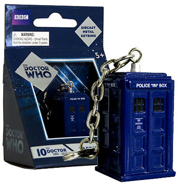 NEW Dr Doctor Who TARDIS Diecast Metal Keyring - Key Ring Keychain