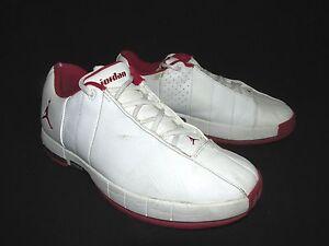 Nike Jordan 23 TE2 Advance Low White Leather Red Shoes  Men's  US 8M  EU 41