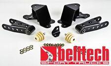 """Belltech 88-98 Chevy Silverado 1/2 Ton Std Cab 4"""" Rear Drop Shackles & Hangers"""