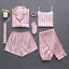 Sleepwear-7-Pieces-Pyjama-Set-2019-Women-Spring-Summer-Sexy-Silk-Pajamas-Sets-Sa miniatura 26