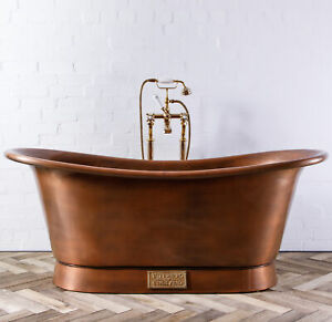 Witt-amp-Berg-Copper-Bateau-Bathtub-Antique-Copper