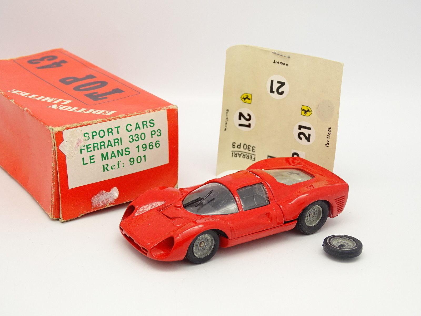 Solido + Transkit Top 43 1 43 - Ferrari 330 P3 Le Mans 1966 n°21