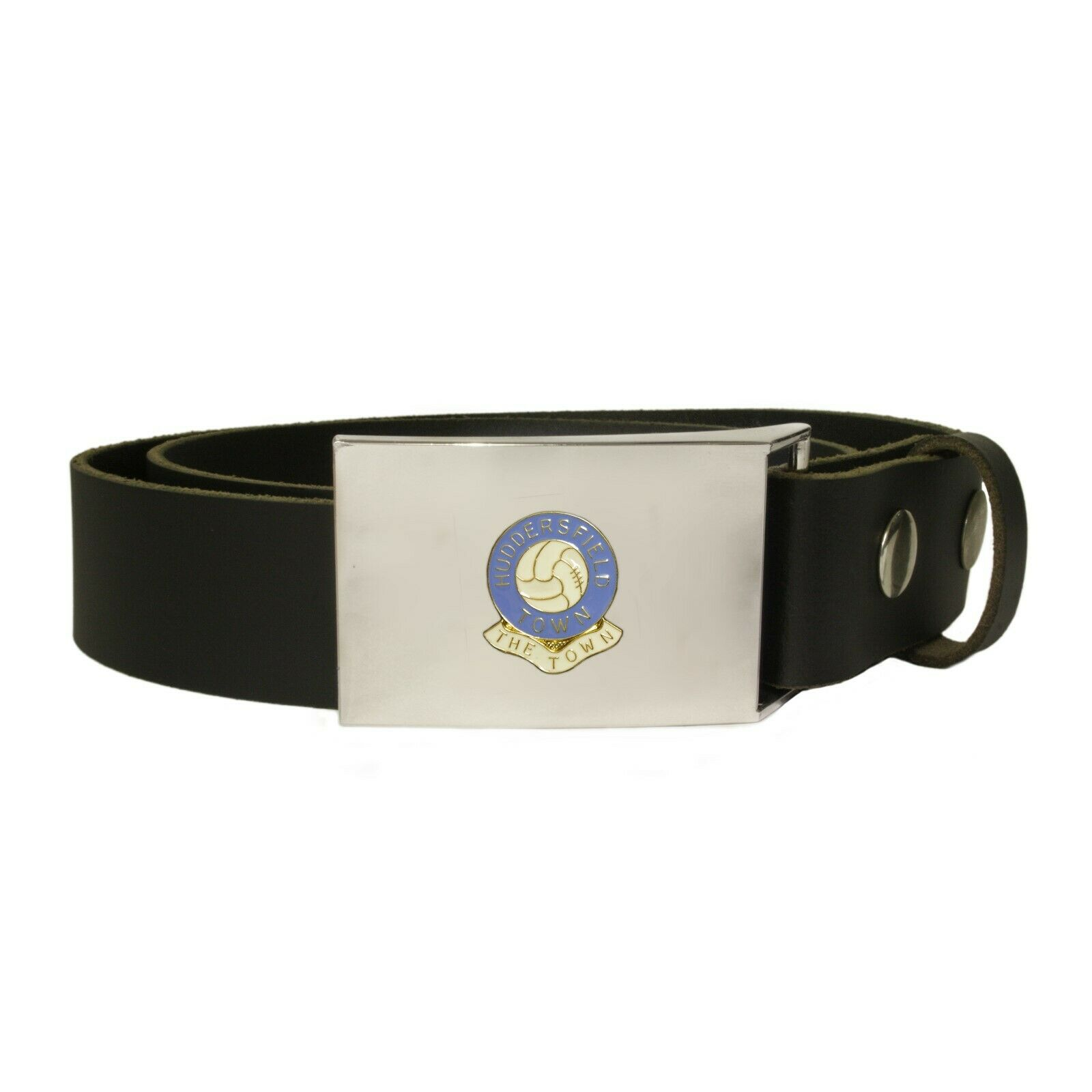 Huddersfield Town football club leather snap fit belt