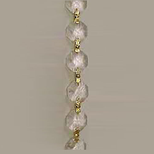 10 yards chandelier crystal prisms glass swag bead chain ebay aloadofball Choice Image
