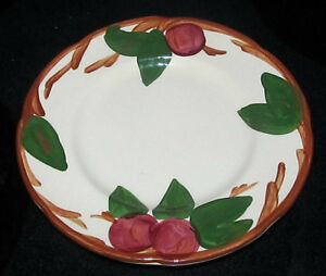 Image is loading Franciscan-Dinnerware-Cherry-or-Apple-Salad-Dessert-Bread- & Franciscan Dinnerware Cherry or Apple Salad Dessert Bread u0026 Butter ...