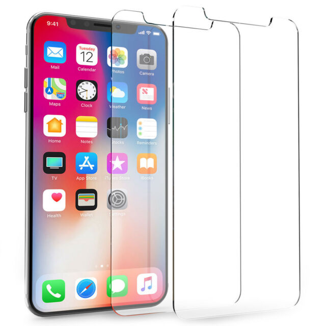 For iPhone X Ultra Slim Tempered Glass Screen Protectors Film Guard Protection