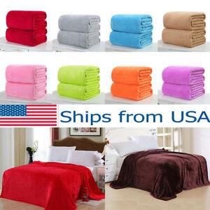 Soft-Solid-Warm-Micro-Plush-Fleece-Blanket-Throw-Rug-Sofa-Bedding-For-Baby-Pets