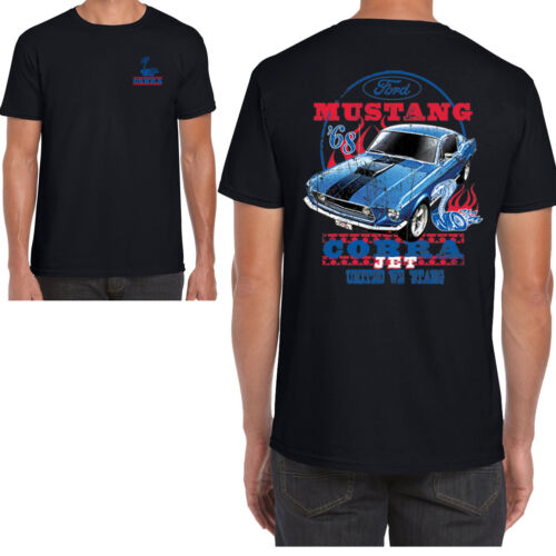 Mens Ford Mustang T Shirt Licenced Genuine Classic American Cobra Jet Muscle Car