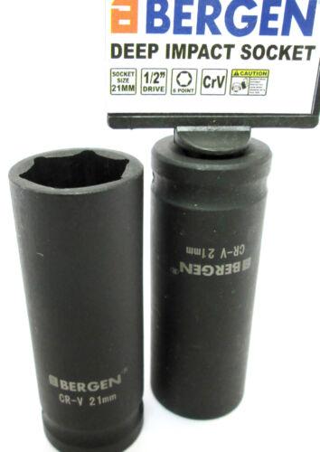 Impacto profundo zócalos de 1//2 pulgadas Drive 21mm 6 punto conjunto de dos 2 Socket US Pro 1367