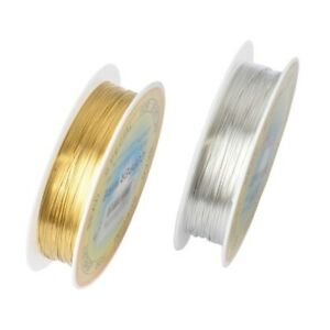 Cord-String-Thread-Wire-0-2-1mm-Gold-Silver-Plated-For-Jewelry-Making-Bracelet