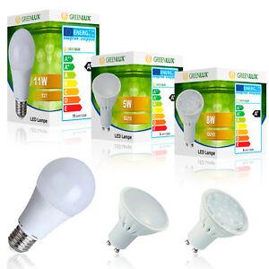 LED-Leuchtmittel-Lampe-Birne-E27-Leuchte-GU10-GREENLUX-Grosshandelspreise