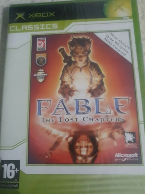 FABLE THE LOST CHAPTERS  XBOX PAL _ UK ENGLISH _ NEW FACTORY SEALED BRILLIANT