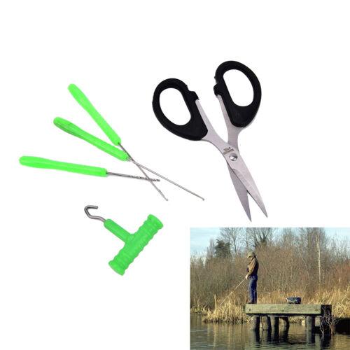 5X Baiting Needle Set Carp Fishing Tackle Tool Kit Hook Bait Rig Knot Puller UK